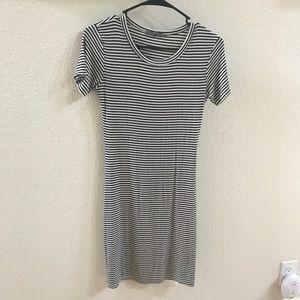 Striped Short Sleeve Dress